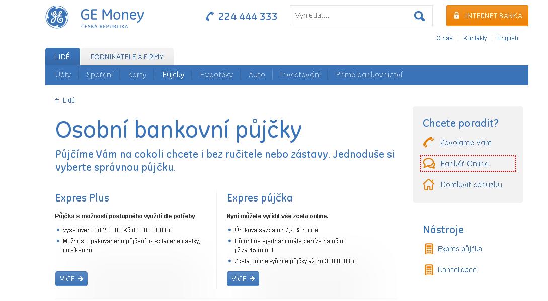 GE Money bank půjčka